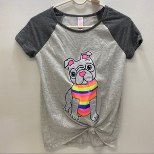 Justice Active T Shirt. Pug Puppy Graphics